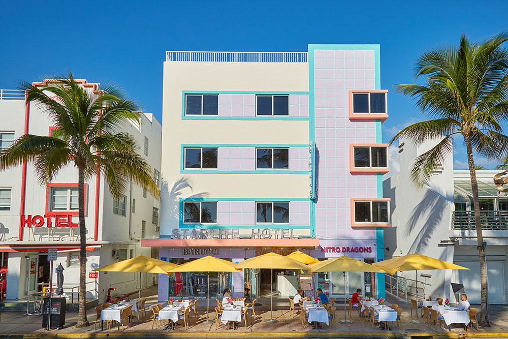 Miami Beach Florida Hotel Starlite Hotel Lodging Accommodations